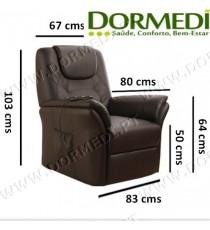 Cadeirão Poltrona Massagens Confort Plus (Preto)