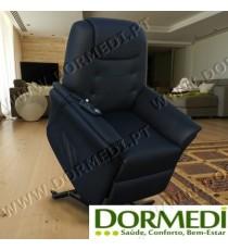 """Poltrona Relax Elevatória C/ Massagens """"Confort Plus"""" cor Preto"""