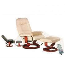 Cadeira de Massagens c/ apoio de pés (cor bege)