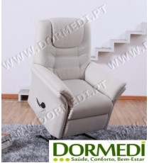 "Poltrona Relax Elevatória C/ Massagens ""Confort Plus"" cor Bege"